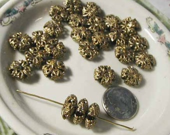 Gold Goldtone Beads - 25 pcs.