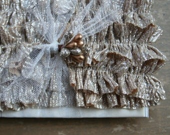 Shimmery Gold Handmade Holiday Ruffles