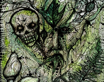 The Green Man - 8x10 archival giclee print