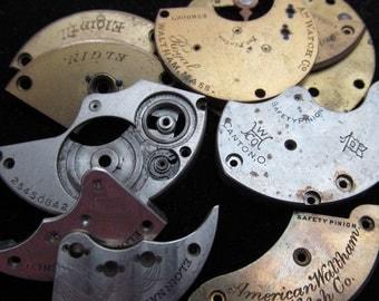 Destash Steampunk Watch Clock Parts Movements Plates Art Grab Bag PR 3