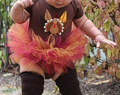 Lil' Turkey Ruffle Tutu 1sy, Turkey Fall Tutu, Baby Turkey Tutu, Thanksgiving Tutu, Perfect for Fall Photos, Thanksgiving Fits baby 3M-9M