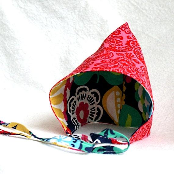 Pixie hat pattern PDF reversible modern baby toddler boy girl child elf gnome adjustable bonnet lined hood back to school fall winter spring