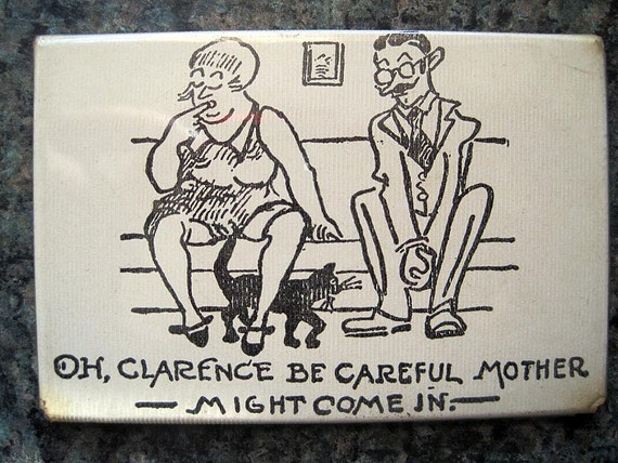 Vintage Adult Humor Pocket Mirror - Bawdy