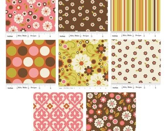 Indian Summer Fabric by Riley Blake - 1/2 Yard Bundle - Last One