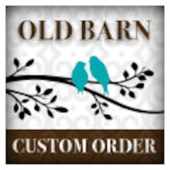 Custom order for Linda Schantz - Vinyl Wall Decal