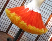 Pettiskirt Candy Corn Colors Size Small Custom