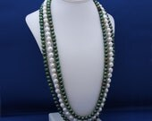 RESERVED-Freshwater Pearls Multi Strand Necklace June Birthstone Statement-Luck O' the Irish
