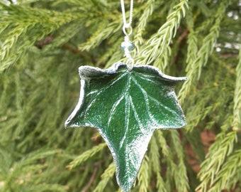 Ivy Leaf Pendant Necklace