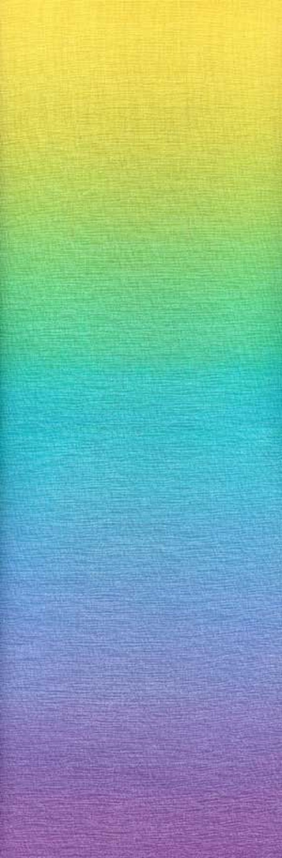 Ombre Gradating Colors Yellow To Purple Fabric 22 Inches Last