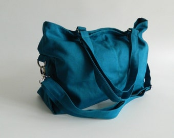 Mia in Teal Blue messenger bag /Gift for mom / diaper bag/School bag /Shoulder bag /laptop bag /tote/women -  Sale Sale Sale 30%