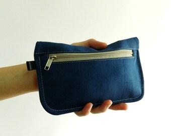 SALE SALE SALE  20% Sale - // D- Pouch in Blue // Wallet / clutch / cosmetic bag / iphone case / travel / Women / Pouch