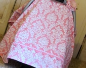 Car Seat Canopy-Candy Damask-Ready 2 Ship