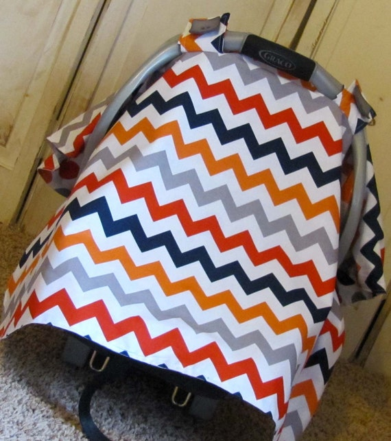 Car seat canopy boy chevron carseat canopy by lilacslollipops for Canopy boys