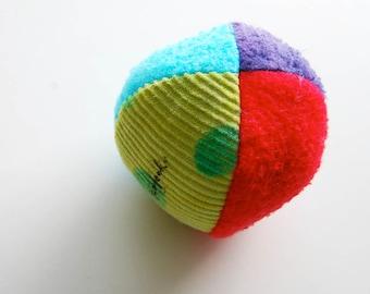 Eco Organic Fabric Fun Ball Rainbow Brights Montessori Toss Play