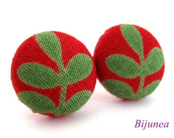 Leaf earrings - Green leaf earrings - Leaf posts - Leaf studs - Leaf post earrings - Leaf stud earrings sf931