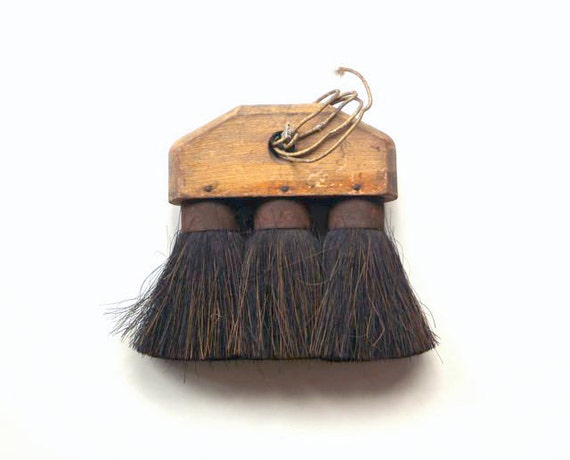 Vintage Rustic Horse Hair Hand Broom or Brush