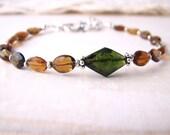 autumn tourmaline gemstone bracelet october birthstone