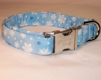 Let It Snow Christmas Dog Collar by Swankypet