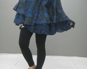 Floral fall poncho (139.1)