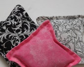Not Your Grandmothers Dried Organic Rose or Lavender Sachet Black and Hot Pink Set of Three Dresser Drawers Cotton Fabric Scented Sale