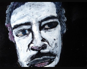 outsider EMERY original painting 'his head orbits space'