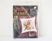 Creative Crewel embroidery pillow kit