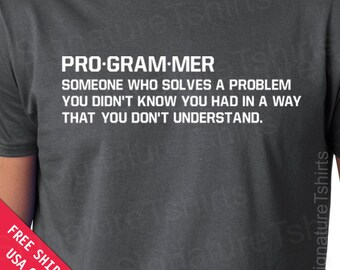 Programmer Mens Womens T-shirt  geek gift father dad husband daddy shirt tshirt Birthday geeky geekery s-3xl Christmas Gift