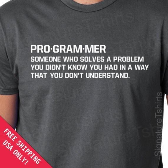 Programmer Mens Womens T-shirt geek gift father dad husband
