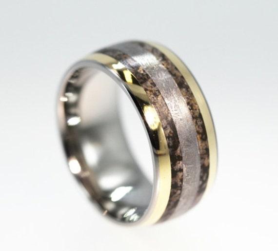 dinosaur bone ring gibeon meteorite ring with by