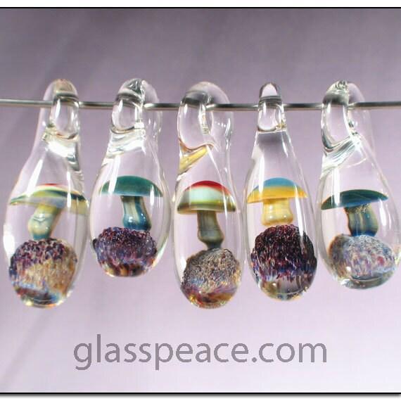 Glass Mushroom Beads WHOLESALE Jewelry Supplies Boro