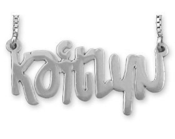 Graffiti Name Necklace - Sterling Silver - choose from 5 styles