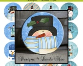 Pinback BUTTON Images 1.25 inch round 1.629 overall size - Winter Blues Collage Sheet AMERICAN BUTTON Machine Tecre 1.313 1.629 1.837 2.088