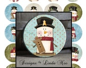 Pinback BUTTON Images 1.5 inch round 1.837 overall size - Snowman Smores Collage Sheet AMERICAN BUTTON Machine Tecre