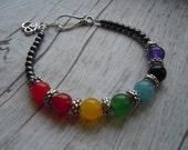 Chakra Bracelet, Chakra Balancing, Energy Bracelet, Chakra Energy Stones, Zen Jewelry, Birthday Gift, Gemstone Jewelry, Chakra Jewelry