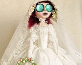 Reserved For Sari - Jane Eyre - Bronte Victorian Gothic Bride Art Doll