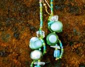 The Bubbling Sea- Earrings