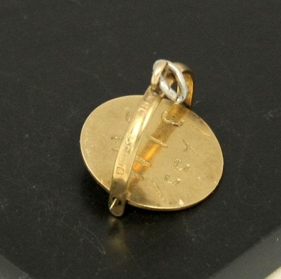 Vintage 9CT 9K Gold Spinner Charm, HAPPY Birthday, English Bracelet Charm