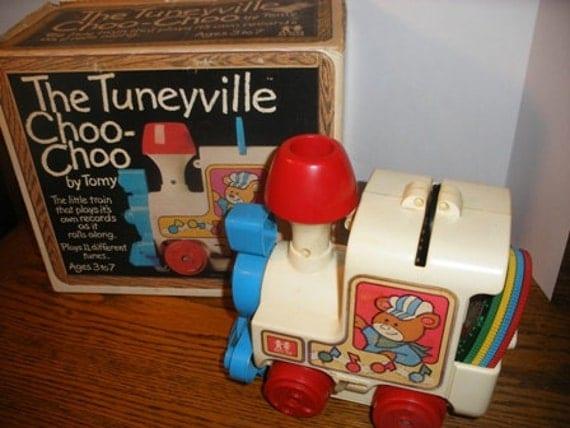 Tuneyville Choo-Choo Record Toy Train 1975 with Box