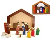 Nativity Set 18 Piece Christmas Puzzle Handcrafted wooden toy