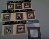MAKING MEMORIES 8 metal scrapbooking frames and 1 Lil Davis Designs leather frame NEW