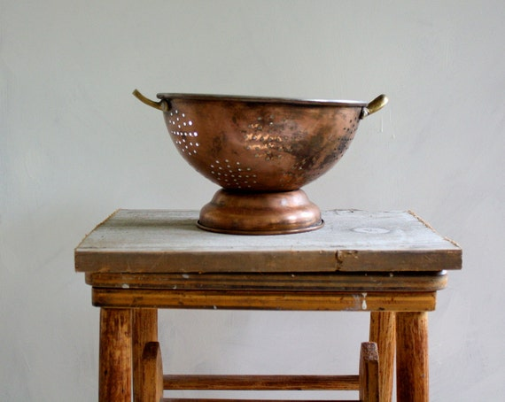Vintage Copper and Tin Colander