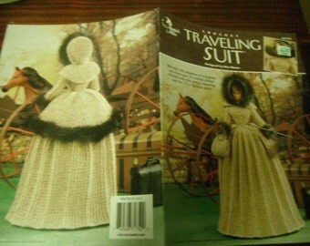 Fashion Doll Clothes Crocheting Patterns Traveling Suit Annie's Attic 871752 Crochet Pattern Leaflet Barbie Size