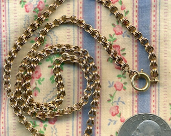Victorian 12K Gold Chain with 18k Gold Clasp