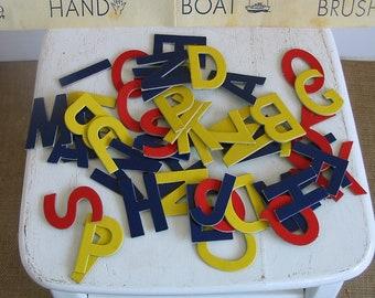 Vintage Child Letters Educational Game School Spelling Kid Nursery Decor