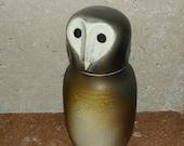 Barn Owl Jar / Urn / Lidded Vessel / Home and Garden