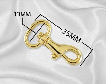 "100 pcs - 1/2"" Metal Spring Hook - Gold - (METAL HOOK MHK-118)"