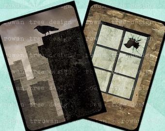 URBAN DECAY Digital Collage Sheet 2.5x3.5in Gothic Noir - no. 0157