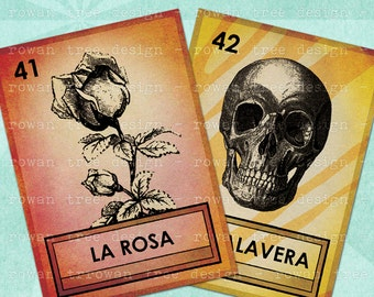 LOTERIA CARDS Part 6 Digital Collage Sheet 2.5x3.5in Printable Cards - no. 0059