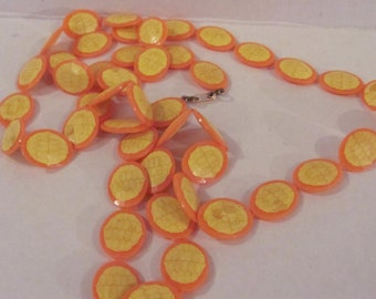 Retro Yellow and Orange Necklace