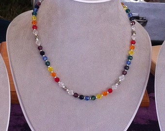 Swarovski Rainbow Crystal Neckalace